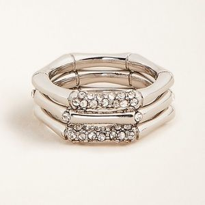Ann Taylor Bamboo Stackable ring set